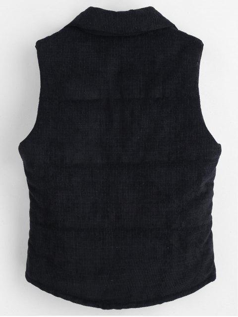 Chaleco de pana con cremallera acolchada - Negro L Mobile