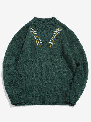 Gestickter Leaf Knit Sweater