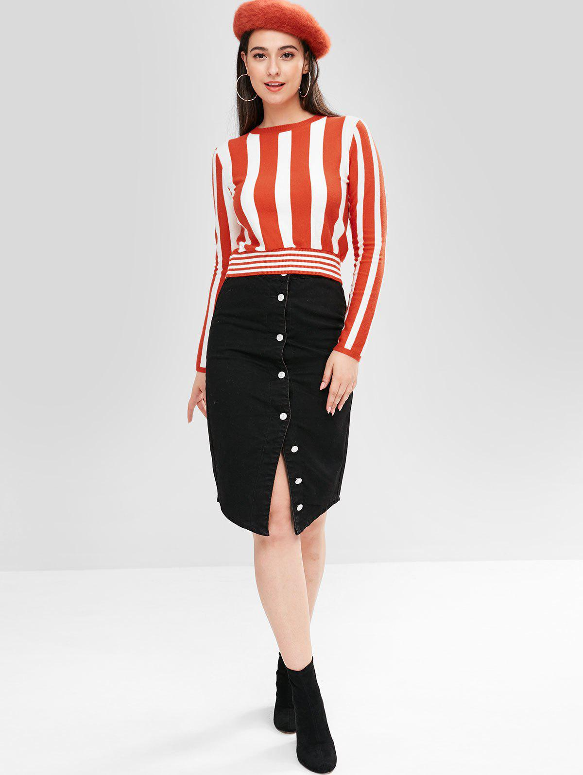 ZAFUL Color Block Stripe Pullover
