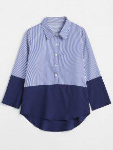قميص بلون مغاير - ازرق غامق Xl