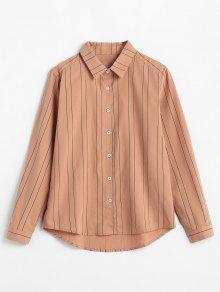 زر حتى طباعة قميص الشريط - سمك السلمون البرتقالي M