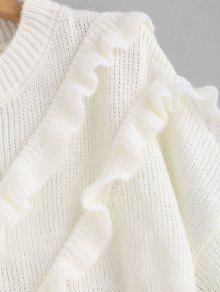 Maglione Plus Size Con Volant WHITE