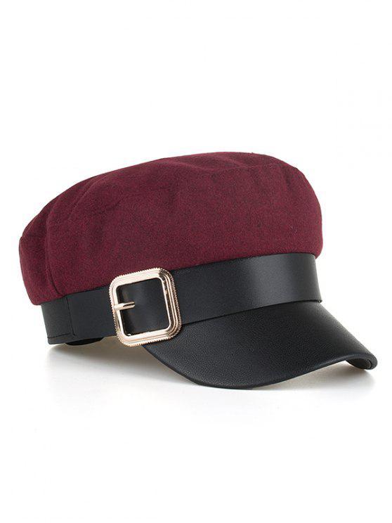 خمر ساحة بوكلي قبعة مسطحة القبعة - نبيذ احمر