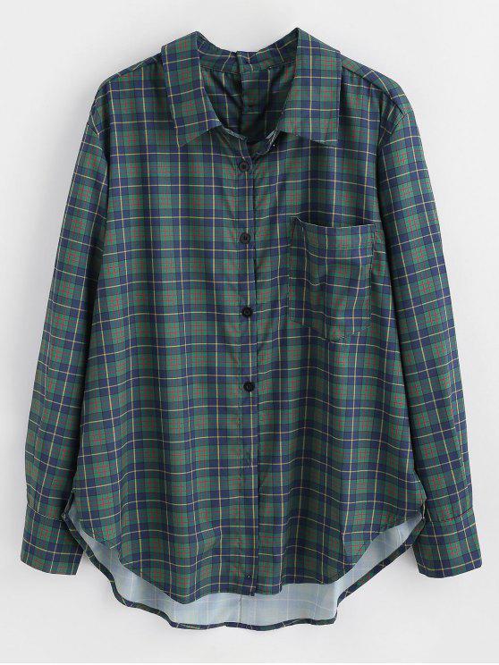 Chemise à carreaux avec poche devant - Multi L