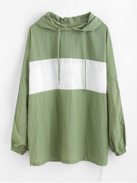 Sweat à capuche avec cordon au dos - Vert Taille Unique