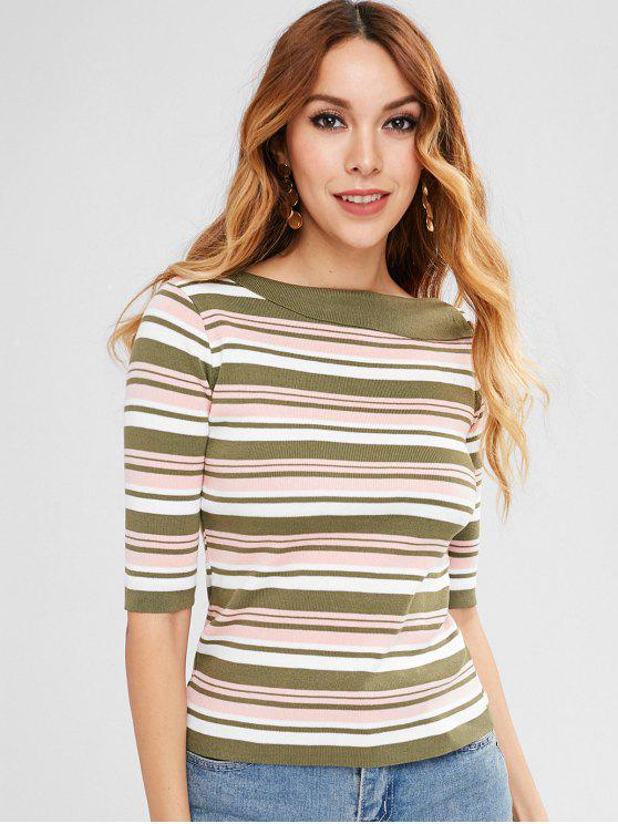 women Slimming Striped Sweater - MULTI ONE SIZE