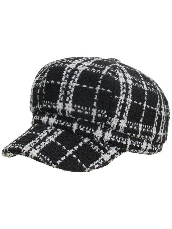 Cappello Vintage A Quadretti - Nero