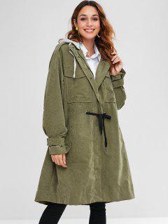 Parka Manteau Léger Avec Quatre Poches - Vert Armée M