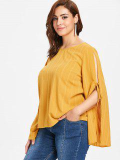 ZAFUL Blusa Casual De Manga Larga - Marrón Dorado 4x