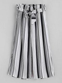 ZAFUL High Waist Stripe Palazzo Pants - Multi S
