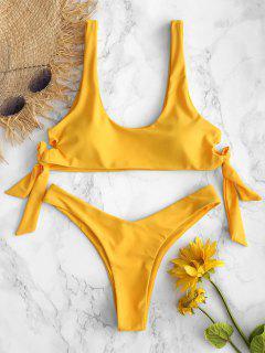 ZAFUL Bikini Noué À La Taille Haute - Jaune Canard Caoutchouc M