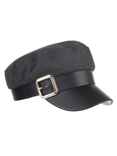 Vintage Flat Hebilla Flat Top Hat - Gris  Mobile