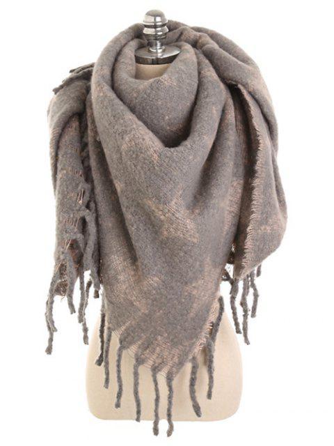 fashion Winter Star Fringed Long Scarf - KHAKI ROSE  Mobile