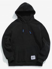 الصلبة الجيب جيب هوديي الجيب - أسود L