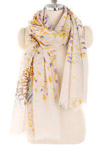 بلومينج الأزهار وشاح خفيف الوزن شال - اللون البيج