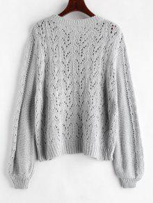 329173b045 Oversize Sweater with Holes  Oversize Sweater with Holes ...