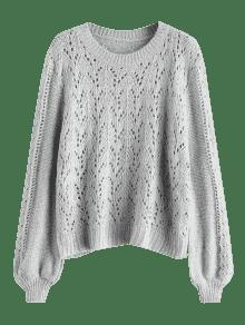ab4eaa7e8e 65% OFF  2019 Oversize Sweater With Holes In GRAY ONE SIZE