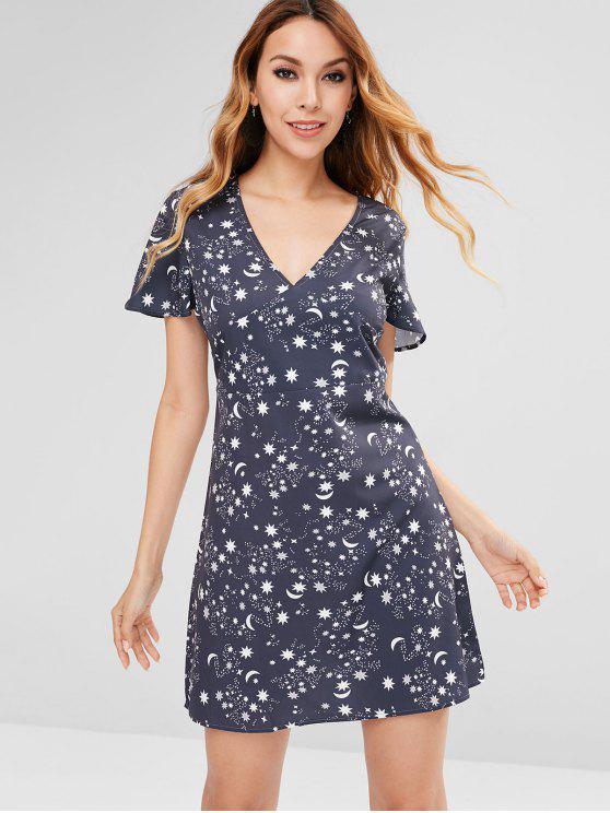 فستان ستار مون الصغير - ضباب أزرق M