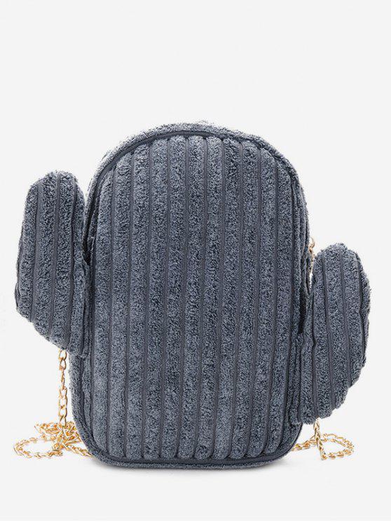 Cadeia de Metal Cadeia Shoulder Bag - Cinza Azulado