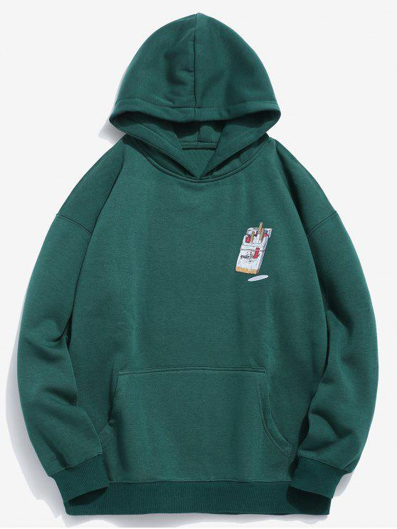 sale Funny Printed Hip Hop Style Hoodie - MEDIUM SEA GREEN 2XL