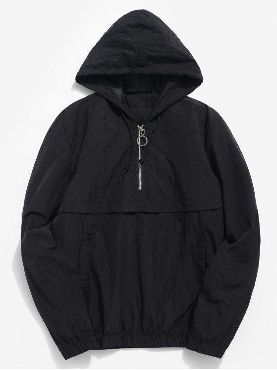 lady Half Zip Sunproof Hoodie - BLACK L
