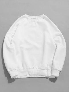 Letter Print Crewneck Sweatshirt - White 3xl