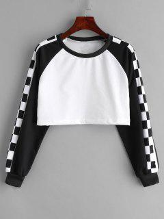 Pullover Two Tone Short Sweatshirt - Multi Xl