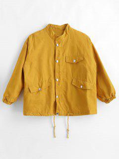 Taschen Fallen Schulter Jacke - Gelb L