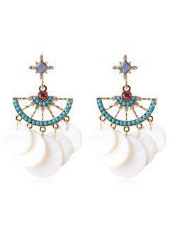 Abalorios Con Forma De Abanico De Diamantes De Imitación - Blanco