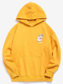 Cigarettes Printed Hip Hop Style Hoodie - Bright Yellow M