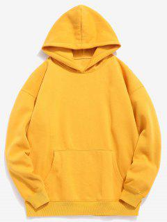 Cartoon Shark Printed Pullover Hoodie - Rubber Ducky Yellow M