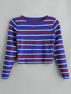 Striped Short Sweater - Multi