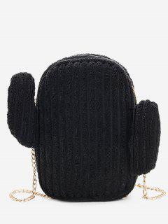 Cactus Metal Chain Shoulder Bag - Black