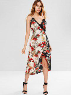 Wrap Floral Cami Dress - Multi L