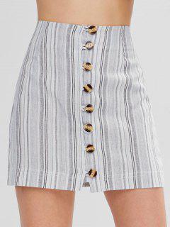 Mini Falda Con Botones En La Parte Superior - Multicolor-b M