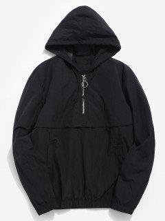 Half Zip Sunproof Hoodie - Black L