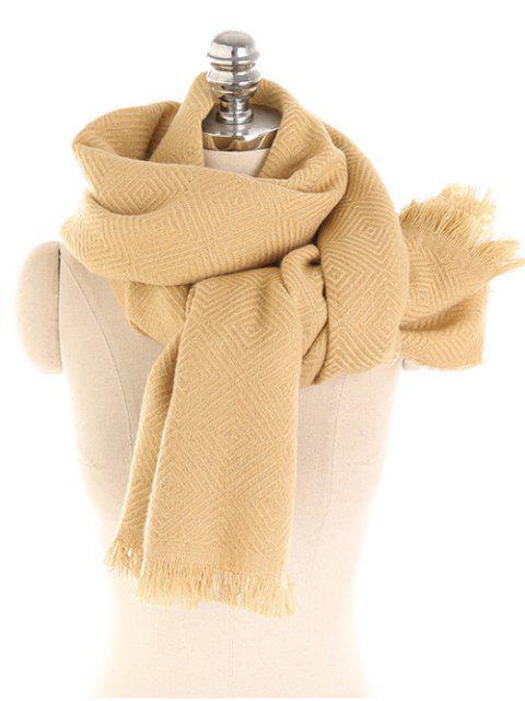 Color sólido de invierno espesar bufanda larga - Amarillo de Sol   Mobile