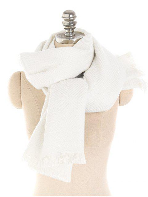 women's Winter Solid Color Thicken Long Scarf - BEIGE  Mobile