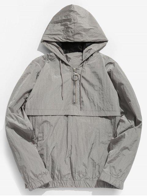 outfits Half Zip Sunproof Hoodie - GRAY S Mobile