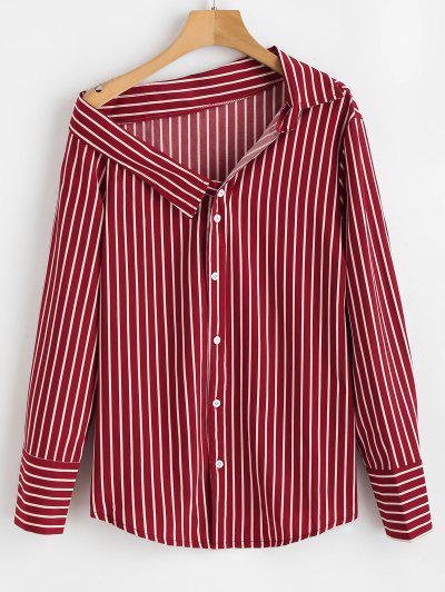 Striped Off The Shoulder Shirt - Multi S