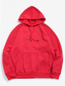 جيب الصلبة الأساسية جيب هودي هوديي - الحمم الحمراء 2xl