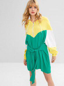 فستان قصير من الامام - أخضر