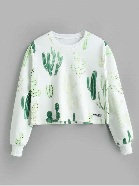 buy Pullover Graphic Sweatshirt - WHITE M