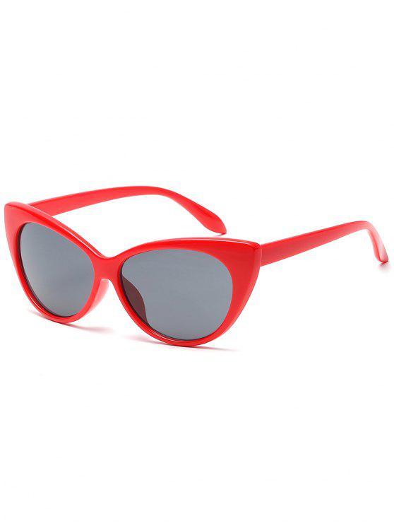 Óculos de sol catty da lente lisa do quadro completo - Rubi Vermelho