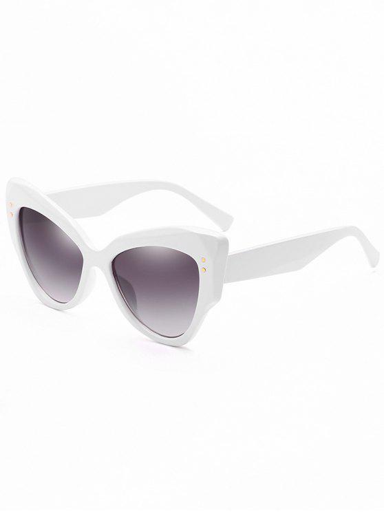 Occhiali Da Sole Anti-Fatica Con Rivetti - Bianca Latte