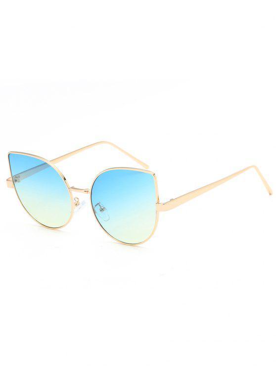 مكافحة التعب التعبيرات المسطحة عدسة النظارات الشمسية - الكريستال الأزرق