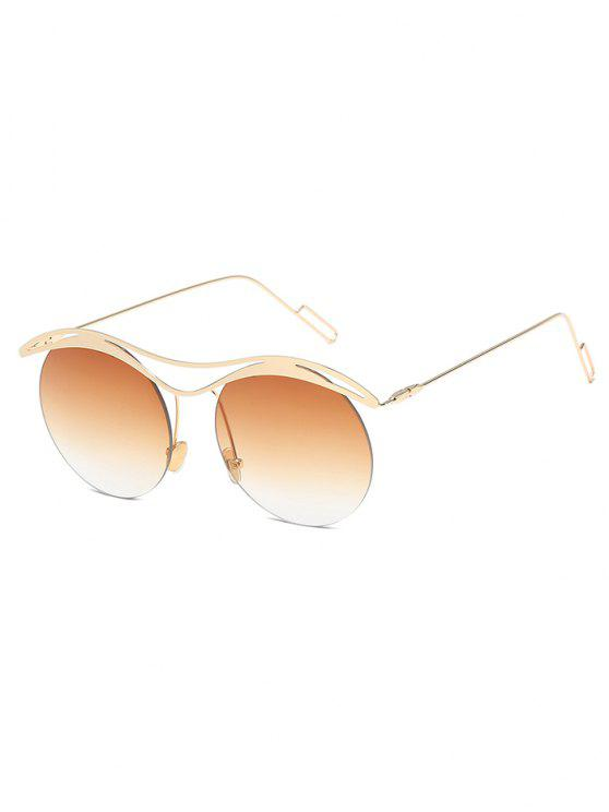 مكافحة التعب جولة عدسة النظارات الشمسية بدون شفة - ساندي براون