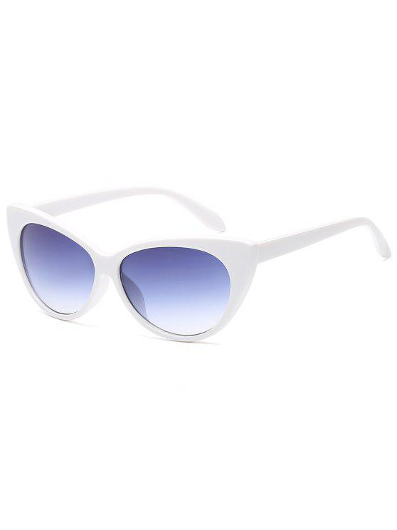 online Flat Lens Full Frame Catty Sunglasses - WHITE