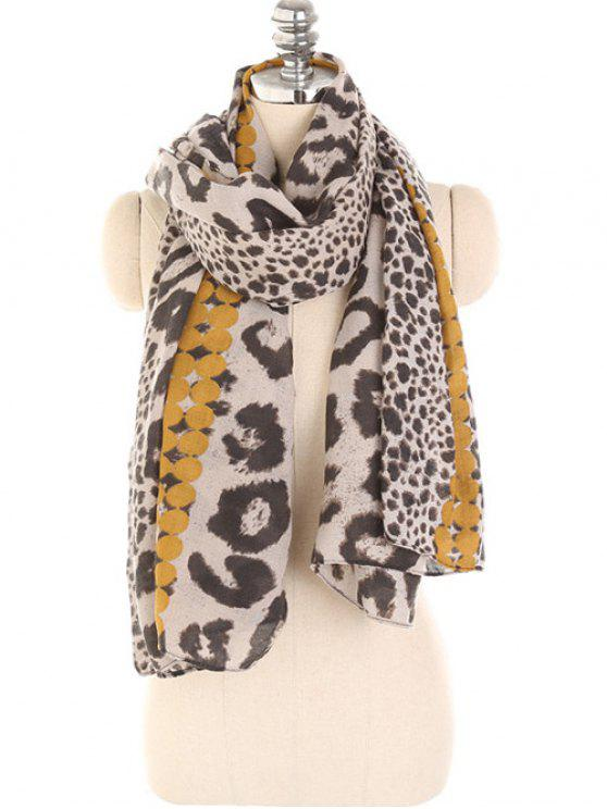 chic Leopard Print Lightweight Winter Scarf - GOLDEN BROWN