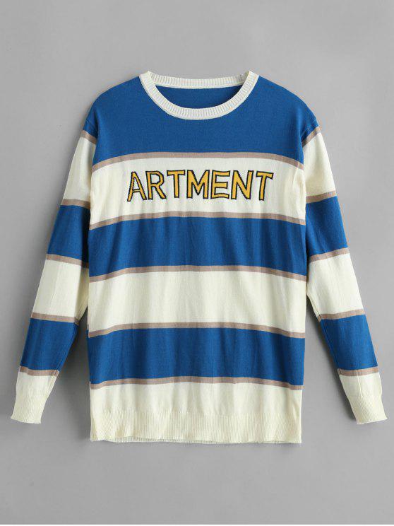 Suéter gráfico con bloque de color - Multi Única Talla